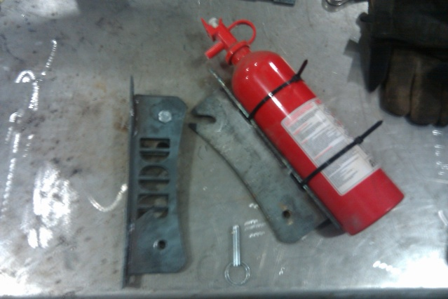 Custom Fire Extinguisher Bracket Kit